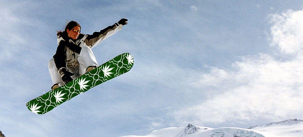 marihuana deporte snowboard salto